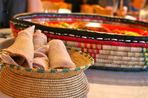 Adorable Basket of Injera
