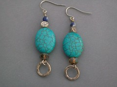 Chalk Turquoise Earrings (sweetanniesjewelry) Tags: turquoise earrings sterlingsilver chalkturquoise