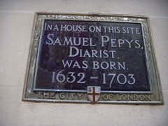 Photo of Samuel Pepys blue plaque