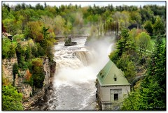 Ausable Chasm (Ronaldo F Cabuhat) Tags: trees newyork green nature water beauty forest river wonder landscape flow spring stream power adirondacks falls glen waterfalls electricity upstatenewyork strong gorge powerful springtime chasm ausablechasm springseason ausableriver canoneosdigitalrebelxti keesevilleny adirondackregion cabuhat sandstonegorge alemdagqualityonlyclub