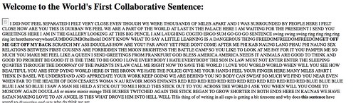 The World's First Collaborative Sentence