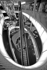 Going Up (J-C-P) Tags: retail architecture modern mall shopping germany frankfurt shops escalators myzeil