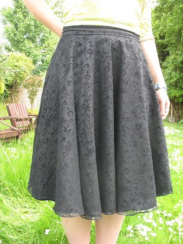 black floaty skirt