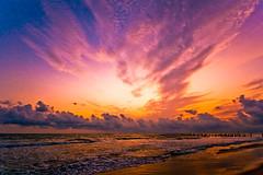 Monsoon is coming (saternal) Tags: sunset sea beach clouds landscape dream shore seashore arabiansea calicut dreamsky kozhikode
