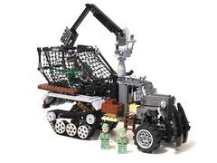 new cage (psiaki) Tags: lego dinosaur crane under down cage trapper halftrack moc rescuers bushwhacker