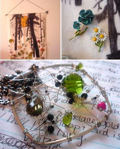 Vintage brooches & handmade jewelry.