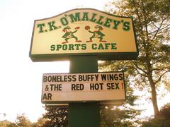 Boneless Buffy Wings & The Red Hot Sex (inspire*dream*create*) Tags: sports sign sex restaurant wings redsox business sportscafe fightingirish dartmouthmassachusetts tkomalleys