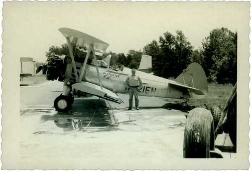Man and plane