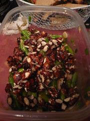 Green Bean Salad with soy-glazed almonds