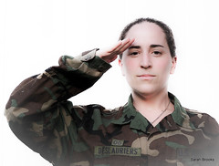 I Salute You, Anna Gay! (267/365) (LittleRedCera) Tags: green thankyou salute camo camouflage strong brave 2009 day267 august12 project365 armystrong annagay littleredcera sendofftobasic myhusbandhelpedmewiththisshot
