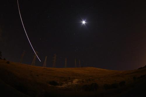 mateor night attempt with Pentax da 10-17mm f/3.5-4.5 fisheye and Pentax K20D
