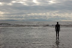 Looking out to sea (veryhappyhack) Tags: crosby antonygormley anotherplace