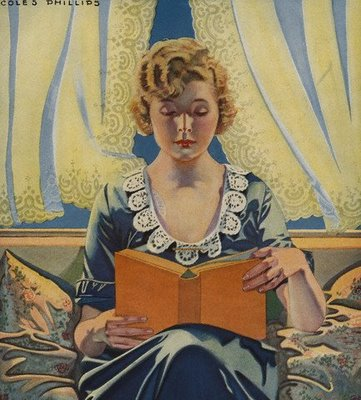 Coles Phillips, Woman Reading Book, 1910/19