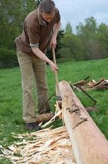 My first hewing (Steve-Tomlin) Tags: beam axe hewing