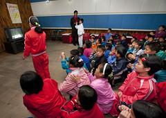 Karaoke at Songdowon International Children's Union Camp in Wonsan - North Korea (Eric Lafforgue) Tags: kids war asia song korea sing asie coree northkorea dprk coreadelnorte 7258 nordkorea    coreadelnord   insidenorthkorea  rpdc  kimjongun coreiadonorte