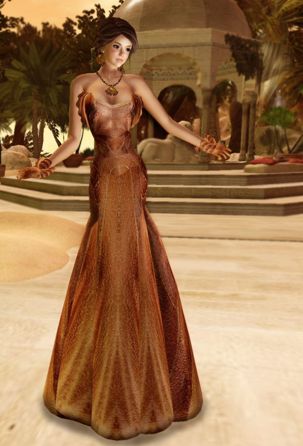 Vero Modero - Cage Gown Gold