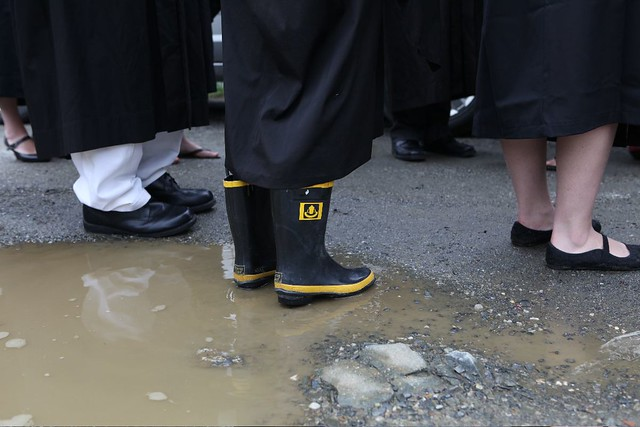 Graduate with Practical Footwear