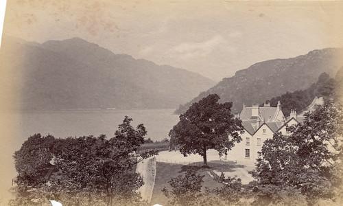 Inversnaid Hotel, Loch Lomond, Scotland. 1880s?