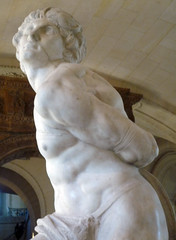 Michelangelo, Rebellious Slave left arm and side