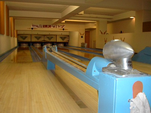 Elks lodge bowling alley