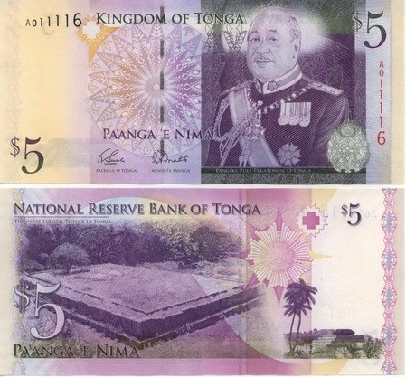 Tonga 2009 new 5 Pa Anga