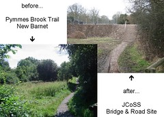 Pymmes Brook Trail - before and after