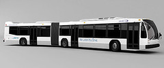 Nova articulated bus with three doors