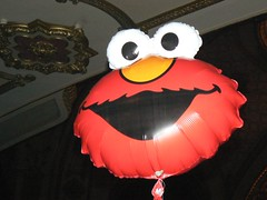 One of the $8 Elmo balloons