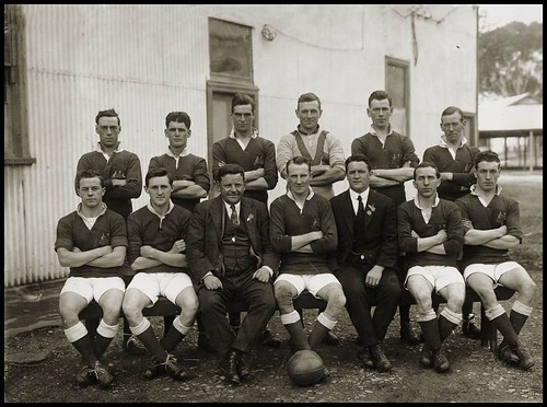 Officials In Soccer. Australian Soccer Team 1924
