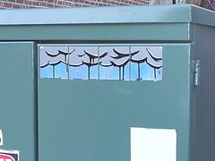 (Darkclouds Archive) Tags: 2003 street art boston graffiti sticker darkclouds darkcloud