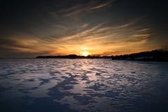 A Race with the Sun (Insight Imaging: John A Ryan Photography) Tags: winter sunset toronto ontario ice lakeerie niagara aficionados portcolborne pentaxk10d justpentax johnaryan mwqio wwwinsightimagingca johnaryanphotography