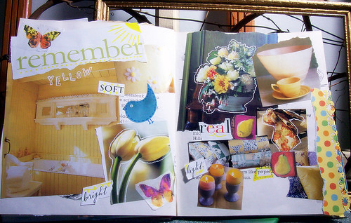 colours of my life altered book - remember yellow
