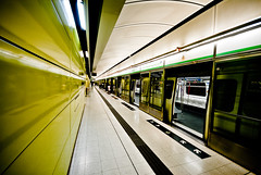 (mischiru) Tags: train subway hongkong  neongreen mtr