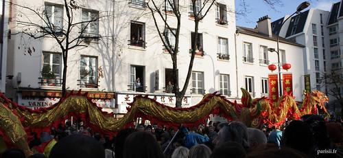 Plusieurs dragons étaient présents lors du défilé, toujours aussi impressionnants