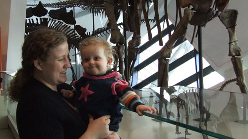 Sarah and Evey at the ROM