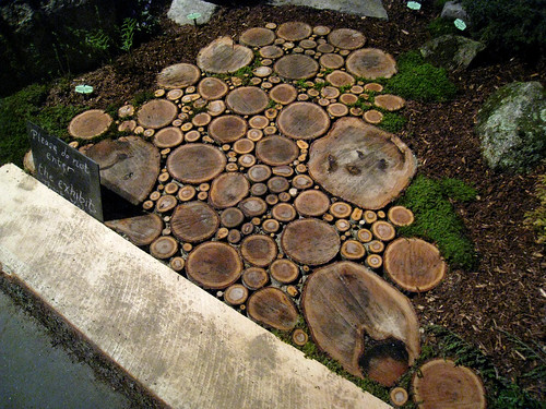 3360132759 ede49776ab Wood Slice Walkway Inspiration