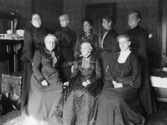 Susan B. Anthony with seven other women, ca. 1903