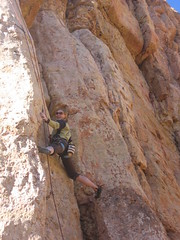 """Jen Conquered the Lower Half of """"Cro Magnum"""" (5.12 a/b)"""