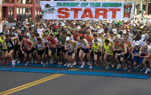 Runnin' O the Green 7k - photo by Ryan Martin
