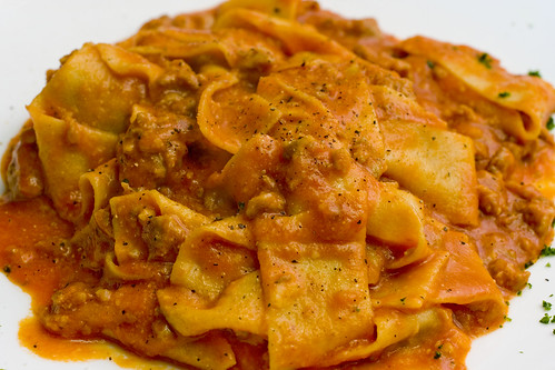 Pappardelle with Sweet Sausage Ragout