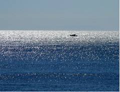A fishing boat in Korthion Bay, Andros (n.pantazis) Tags: blue sea sun sunlight reflection fishing ikaria aegean fishingboat andros ormos aegeansea ikariotikos korthi