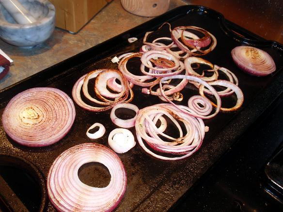 caramelize the red onions