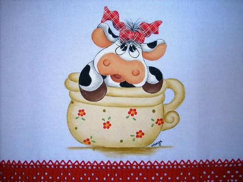 Menina country,sapo e abelha by Raquel - Pintando o 7