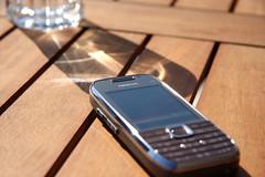 Nokia E75 under the sun body
