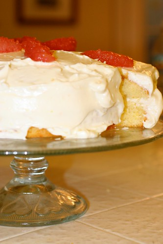 Grapefruit Cake with Cream Cheese Frosting