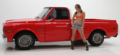 "Lindsay With 1968 GMC Truck • <a style=""font-size:0.8em;"" href=""http://www.flickr.com/photos/85572005@N00/3396635670/"" target=""_blank"">View on Flickr</a>"