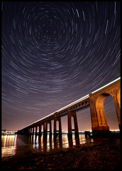 Tay Rail Bridge Dundee (rg250871) Tags: bridge star scotland dundee tay starry startrails taybridge tayrailbridge wormit robbiegraham