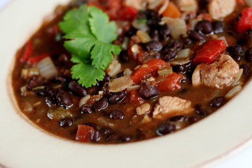 Black Bean, Chicken and Red Pepper Stew