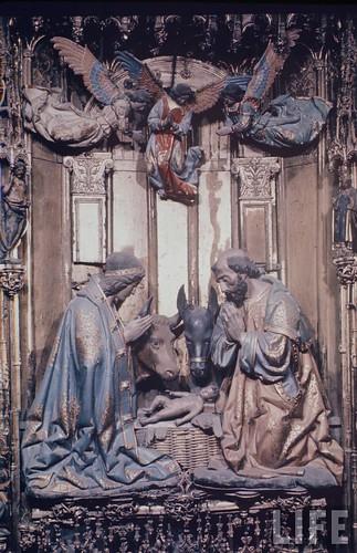 Detalle del altar mayor de la Catedral de Toledo en 1963. Fotografía de Dmitri Kessel. Revista Life (20)