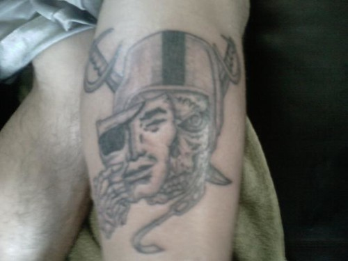 Do you know about Raiders Tattoos? In here there are many design of Raiders